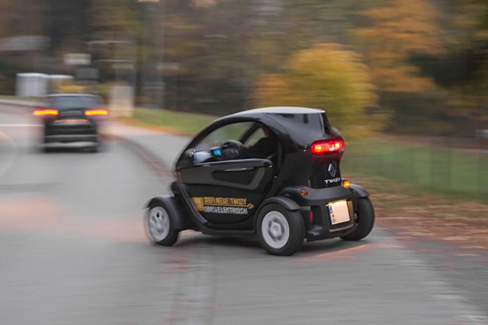 Fahrender Renault Twizy