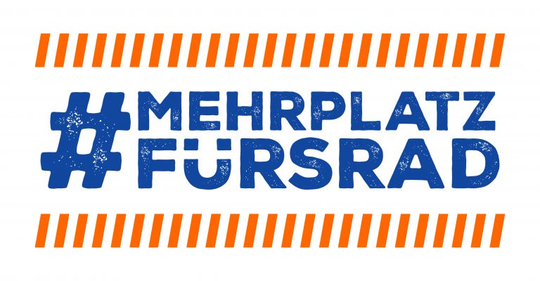 Slogan: #mehrplatzfürsrad