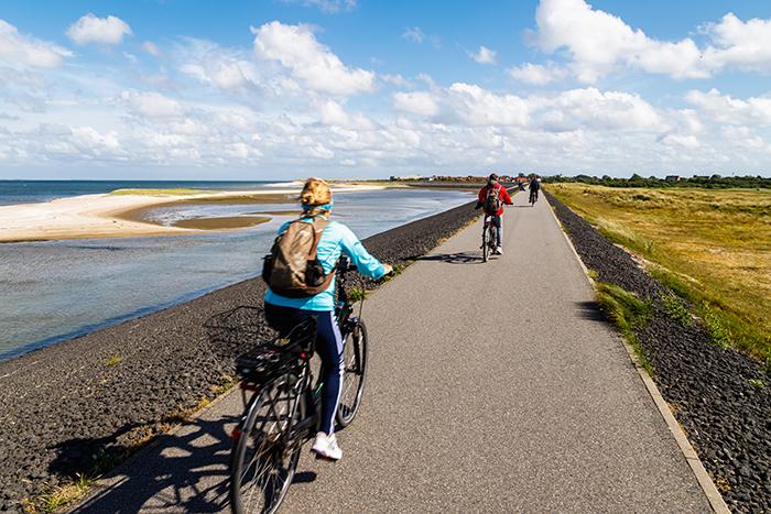 Fahrradweg auf Sylt