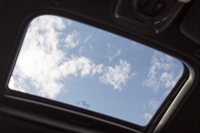 Blick von unten aus dem Glasdach