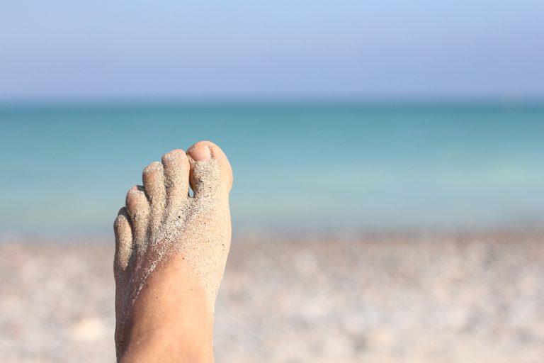 Fuß am Mittelmeer