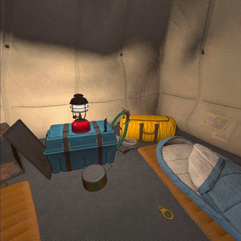 Im virtuellen Zelt