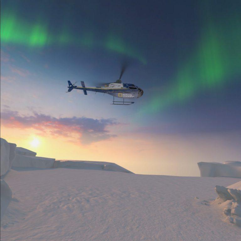 Virtueller Hubschrauber von National Geographics