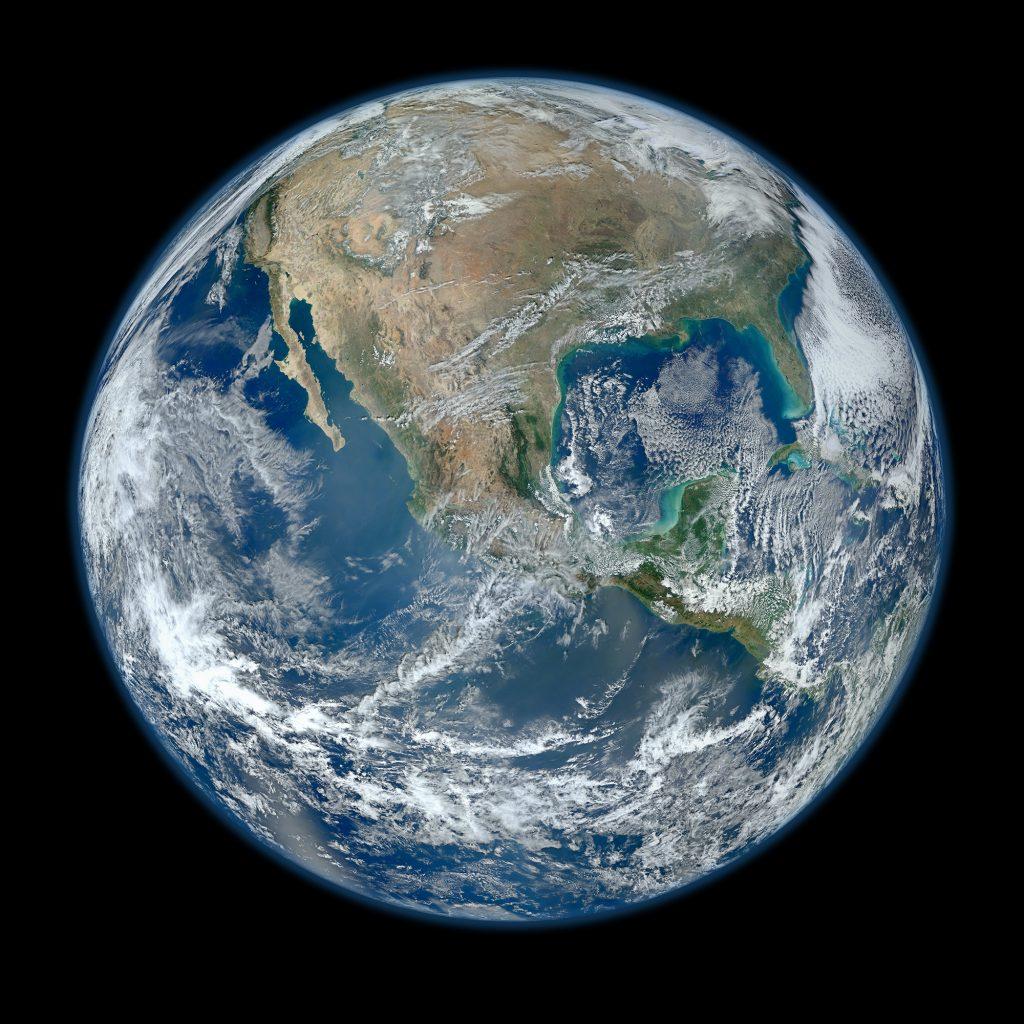 Der Planet Erde vom Weltraum aus
