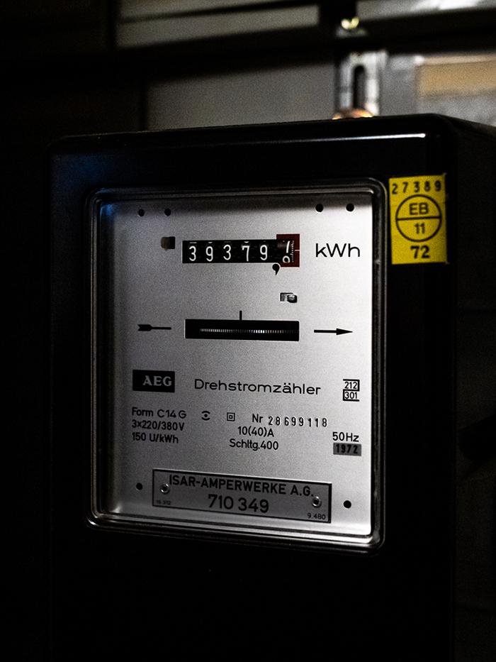 Stromzähler im Haus