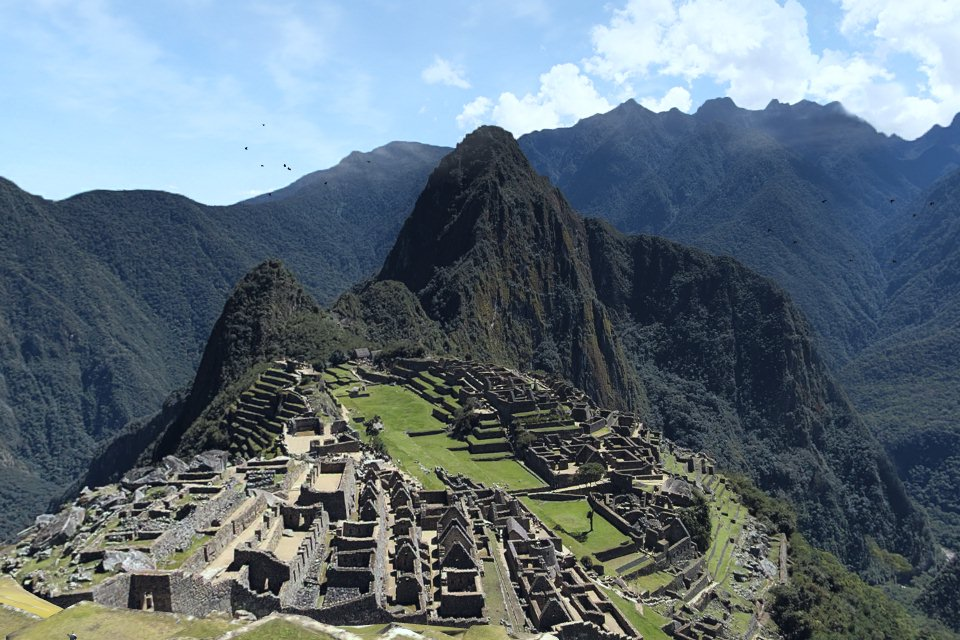 Blick auf das digitale Machu Picchu