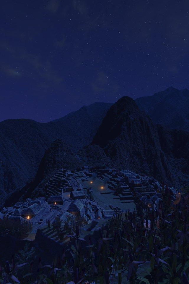 Machu Picchu bei Nacht