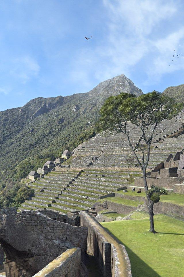 Virtuelle Terrassen von Machu Picchu