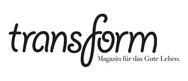 Logo des Magazins transform