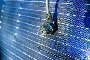 Der Stecker der Solaranlage