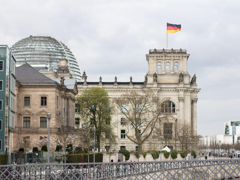 Das Gebäude des Bundestags in berlin