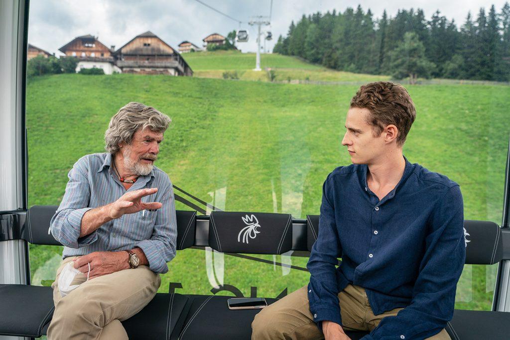 Autor Felix Strohbach im Gespräch mit Reinhold Messner